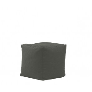Fotoliu Pufrelax Taburet Cub XL - Moon Grey (Gama Premium) cu husa detasabila textila, umplut cu perle polistiren