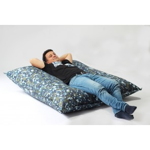 Fotoliu tip Perna Magic Pillow - Impermeabil Army Camouflage Air (pretabil si la exterior) umplut cu perle polistiren
