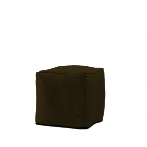 Fotoliu Pufrelax Taburet Cub - Brown Muffin (Gama Diamond) cu husa detasabila textila, umplut cu perle polistiren