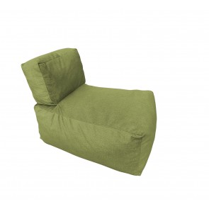 Fotoliu Copii, Pufrelax Coco Roco, 2 – 8 ani, Chelford Green (Gama Premium Textil) umplut cu fulgi de burete memory mix