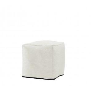 Fotoliu Pufrelax Taburet Cub - Lovesack (Gama Premium Rustic) cu husa detasabila textila, umplut cu perle polistiren