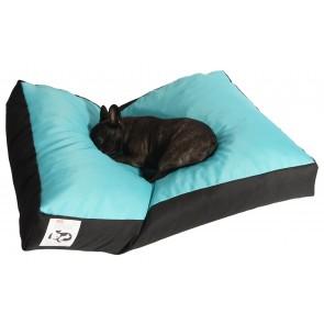 Culcus Pufrelax Pets marime XL pentru caine sau pisica, Husa detasabila, IMPERMEABIL,Panama Aqua