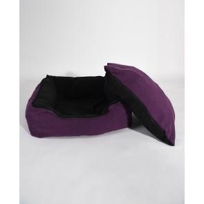 Culcus marime L pentru caine sau pisica, Husa detasabila, interior IMPERMEABIL  - Pufrelax Pets, Mulberry