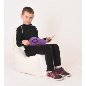 Fotoliu Puf tip Scaun pentru copii (2-8 ani) Sunlounger Junior - Icecream (GAMA PREMIUM PU)