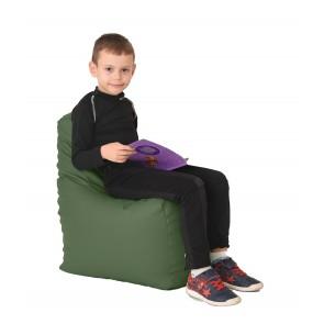 Fotoliu Puf tip Scaun pentru copii (2-8 ani) Sunlounger Junior - Waka Waka Green (GAMA PREMIUM PU)