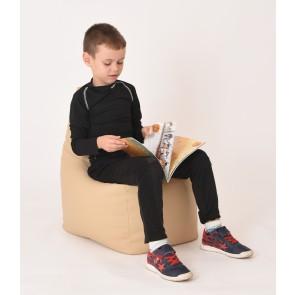Fotoliu Puf tip Scaun pentru copii (2-8 ani) Sunlounger Junior - Beige (GAMA PREMIUM PU)