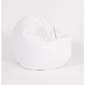Fotoliu Puf pentru Copii (2-14 ani) Relaxo - White (GAMA PREMIUM PU) umplut cu perle polistiren