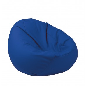 Fotoliu Pufrelax tip Sac Nirvana Gigant - Electric Blue (pretabil si la exterior) umplut cu perle polistiren