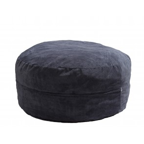 Fotoliu Pufrelax King Size XL -Dusty Blue (Gama Plush Honey) umplut cu fulgi de burete memory mix®