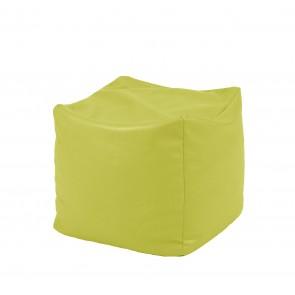 Fotoliu Taburet Cub XL - Fistic (piele eco) umplut cu perle polistiren