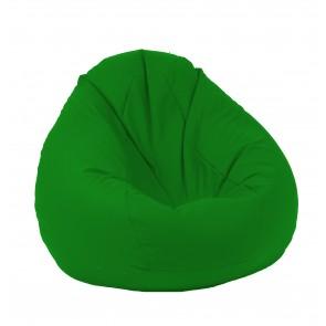 Fotoliu Pufrelax tip Sac Nirvana Gigant - Panama Green (pretabil si la exterior) umplut cu perle polistiren