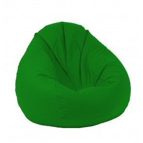 Fotoliu Pufrelax tip Sac Nirvana Gigant - Teteron Green (pretabil si la exterior) umplut cu perle polistiren