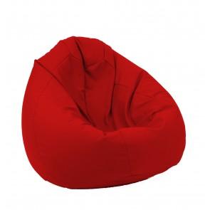 Fotoliu Pufrelax tip Sac Nirvana Gigant - Panama Red (pretabil si la exterior) umplut cu perle polistiren
