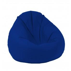 Fotoliu Puf tip Sac Nirvana Gigant - Teteron Blue Royal (pretabil si la exterior), cu husa detasabila, umplut cu perle polistiren