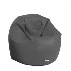 Fotoliu Beanbag Relaxo - Dark Grey (GAMA PREMIUM PU) umplut cu perle polistiren
