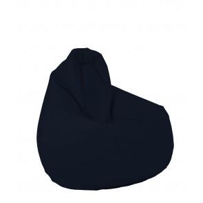 Fotoliu (Mediu) Nirvana Hobbit - Panama Bleumarin (pretabil si la exterior, husa detasabila) umplut cu perle polistiren (fotoliu para marca Pufrelax) Fabricat in Romania