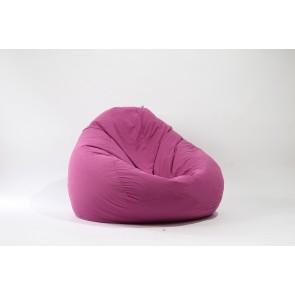 Fotoliu Nirvana Gigant - Pink (Gama Premium Rustic) cu husa detasabila textila, umplut cu perle polistiren