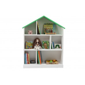 Casuta biblioteca din lemn BookHouse - White & Green