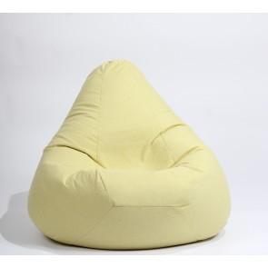 Fotoliu Puf tip Sac Nirvana Hobbit - Lemon (Gama Premium Textil) cu husa detasabila textila, umplut cu perle polistiren
