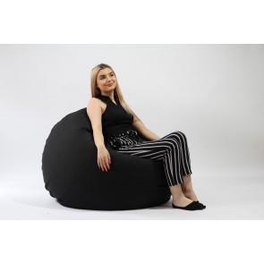 Fotoliu Pufrelax Relaxo XL - Eerie Black (Gama Premium) cu husa detasabila textila, umplut cu perle polistiren