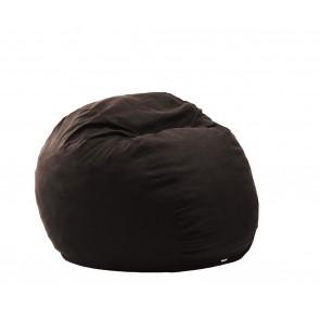 Fotoliu PufRelax King Size - Dark Chocolate (Gama Premium Textil) umplut cu fulgi de burete memory mix®