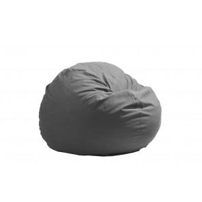 Fotoliu Pufrelax King Size - Light Grey (Gama Premium) umplut cu fulgi de burete memory mix®