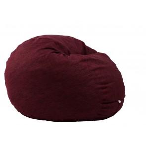 Fotoliu Pufrelax King Size - Red Wine (Gama Premium Rustic) umplut cu fulgi de burete memory mix®