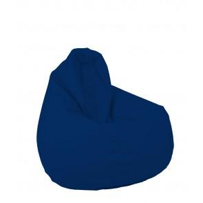Fotoliu Puf tip Sac Nirvana Hobbit - Panama Blue Royal (pretabil si la exterior) umplut cu perle polistiren