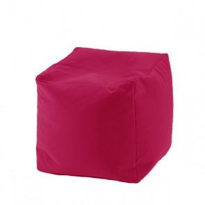 Fotoliu Taburet Cub - Panama Pink (pretabil si la exterior) umplut cu perle polistiren