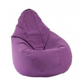 Fotoliu beanbag pentru Copii (4-14 ani), Mauve (Gama Premium Textil),husa detasabila, umplut cu perle polistiren