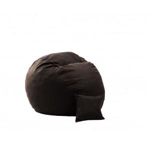 Set Fotoliu Puf Matusalem + Perna decorativa - Dark Chocolate (Gama Premium Textil) umplut cu fulgi de burete memory mix®