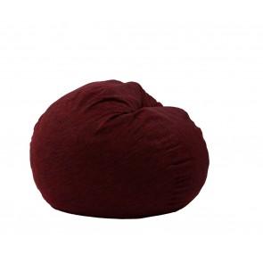 Fotoliu PufRelax Matusalem - Red WIne (Gama Premium Rustic) umplut cu fulgi de burete memory mix®