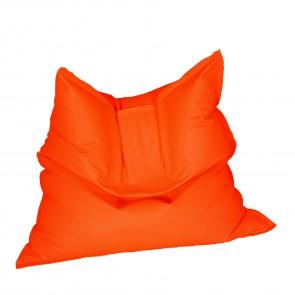 Fotoliu tip Perna Magic Pillow - Panama Neon Orange (pretabil si la exterior) umplut cu perle polistiren