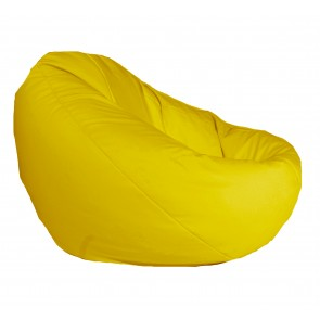 Fotoliu Pufrelax tip Sac Nirvana Gigant - Yellow Quince (pretabil si la exterior) umplut cu perle polistiren