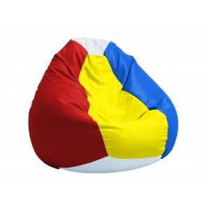 Fotoliu Puf tip Sac Nirvana Gigant - Hai Romania! (pretabil si la exterior), cu husa detasabila, umplut cu perle polistiren