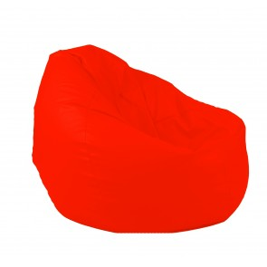 Fotoliu Puf tip Sac Nirvana Gigant - Teteron Orange Neon (pretabil si la exterior) umplut cu perle polistiren