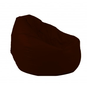 Fotoliu Puf tip Sac Nirvana Gigant - Teteron Chocolatte (pretabil si la exterior) umplut cu perle polistiren