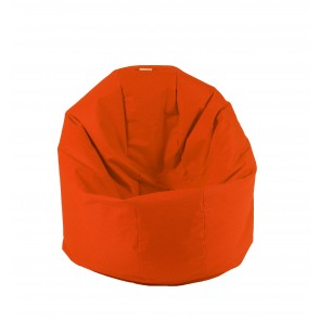 Fotoliu Beanbag Relaxo - Orange Neon (pretabil si la exterior) umplut cu perle polistiren