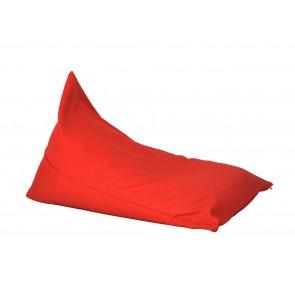 Fotoliu sac, Pufrelax Kudos - Panama Christmas Red (pretabil si la exterior) umplut cu perle polistiren