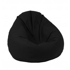 Fotoliu Pufrelax tip Sac Nirvana Gigant - Panama Black (pretabil si la exterior) umplut cu perle polistiren