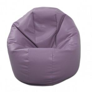Fotoliu Puf pentru Copii (2-14 ani) Relaxo - Violet (piele eco) umplut cu perle polistiren