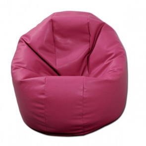 Fotoliu Beanbag Relaxo - Roz (piele eco) umplut cu perle polistiren