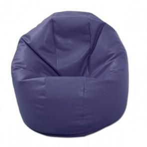 Fotoliu Beanbag Relaxo - indigo (piele eco) umplut cu perle polistiren