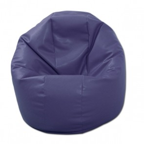 Fotoliu Puf pentru Copii (2-14 ani) Relaxo - indigo (piele eco) umplut cu perle polistiren