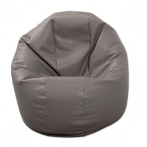 Fotoliu Beanbag Relaxo - Gri (piele eco) umplut cu perle polistiren