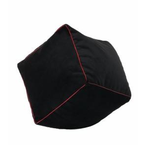 Fotoliu Taburet Cub - Red Touch (cu husa detasabila textila)  umplut cu perle polistiren