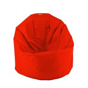 Fotoliu Beanbag Relaxo XL - Teteron Neon Orange (pretabil si la exterior) umplut cu perle polistiren