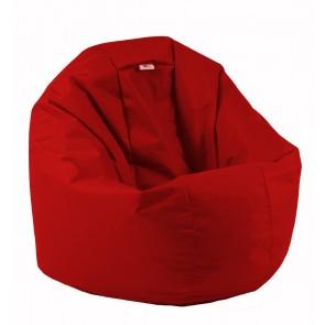 Fotoliu Puf pentru Copii (2-14 ani) Relaxo - Teteron Red (pretabil si la exterior) umplut cu perle polistiren