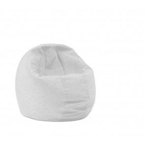 Fotoliu Pufrelax Relaxo - Angora Grey (Gama Premium) cu husa detasabila textila, umplut cu perle polistiren