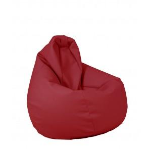 Fotoliu beanbag pentru Copii (4-14 ani) Nirvana Light - Rosu (piele eco) umplut cu perle polistiren